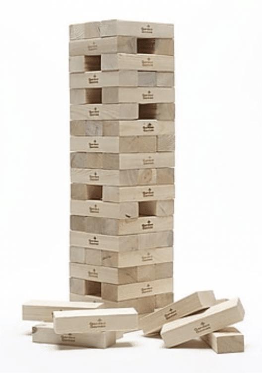 Giant Jenga Game (stacks over 4ft)