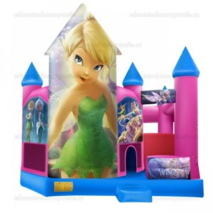 Tinkerbell Bouncy Castle and Slide