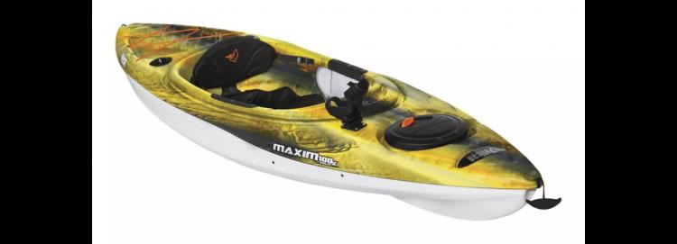 Maxim 100 Fishing Kayak, Yellow